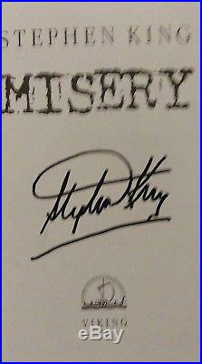Stephen King (1987)'Misery', signed first edition 1/1 nice inscription