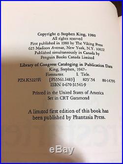Stephen King Firestarter TRUE First Edition SIGNED DATED (8/27/80) $13.95 VIKING