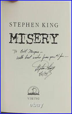 Stephen King / Misery Signed 1st Edition 1987 #2007041
