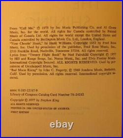 Stephen King SIGNED The Shining First Edition 1st Printing DJ 1977