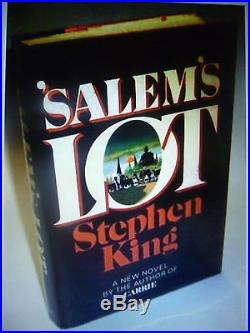 Stephen King,'Salem's Lot' SIGNED first edition 1st/1st