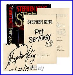 Stephen King Signed 1st First Edition of Pet Sematary