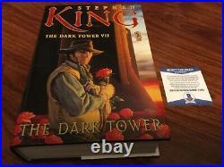 Stephen King Signed Dark Tower VII Book First Edition Hcdj Beckett Bas