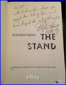 Stephen King Signed Dated Inscribed The Stand First Edition