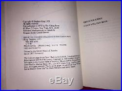 Stephen king library signed first edition autographed book rare the dead zone