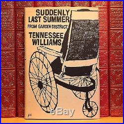 Suddenly Last Summer, Tennessee Williams. Signed First Edition, 1st Printing