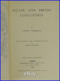 Sylvie and Bruno & Concluded Both SIGNED by LEWIS CARROLL First Edition 1st