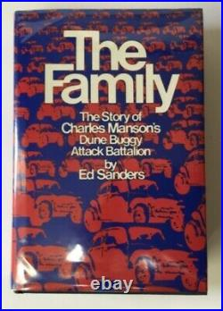 THE FAMILY Ed Sanders FIRST EDITION 1971 HC/DJ Charles Manson & PROCESS CHURCH