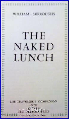 THE NAKED LUNCH WILLIAM BURROUGHS 1ST 1959 Paris edition
