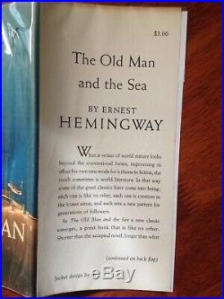 THE OLD MAN AND THE SEA By Ernest Hemingway True 1st edition 1st printing SIGNED