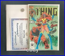 THING #35 VARIANT SIGNED STAN LEE WithCOA 1ST NEW MS MARVEL CAPTAIN 1 AVENGERS