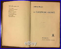 TRUE FIRST STATE of FIRST EDITION of A CLOCKWORK ORANGE by Anthony Burgess RARE
