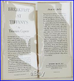 TRUMAN CAPOTE Breakfast at Tiffany's SIGNED FIRST EDITION