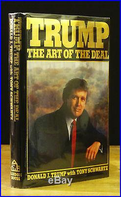 TRUMP THE ART OF THE DEAL (1987) DONALD TRUMP SIGNED 1ST EDITION Early Printing