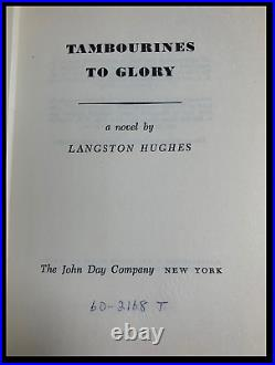 Tambourines To Glory SIGNED & DATED by LANGSTON HUGHES 1st Edition Hardback