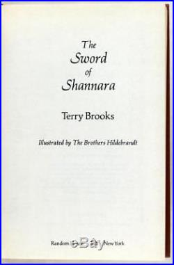 Terry Brooks Signed First Edition 1977 The Sword of Shannara Book #1 HC withDJ