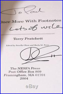 Terry Pratchett Once More With Footnotes 2004, UK Signed First Edition