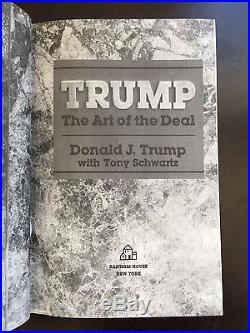 The Art of the Deal by Donald Trump Signed First Edition
