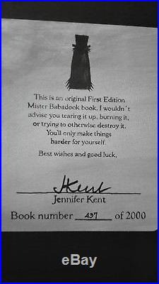 The Babadook Book 437 Of 2.000 First Edition Signed By Director