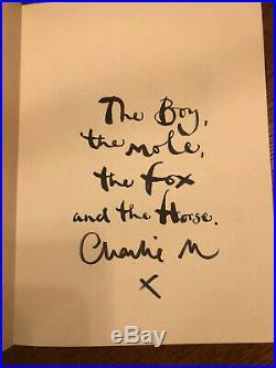 The Boy, The Mole, The Fox & The Horse by Charlie Mackesy Hand Signed 1st Edition