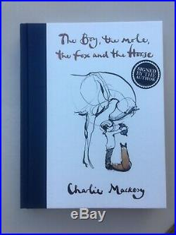 The Boy The Mole The Fox and The Horse SIGNED Charlie Mackesy SIGNED 1st Edition