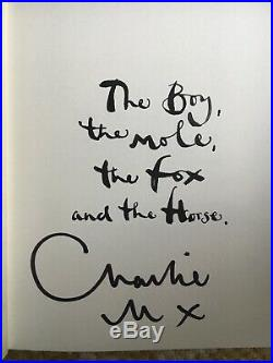 The Boy, The Mole, The Fox and The Horse SIGNED First Edition Charlie Mackesy