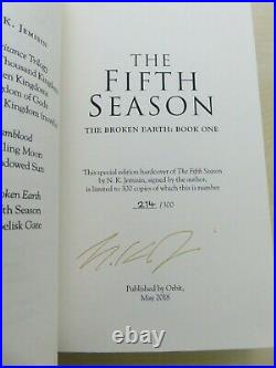 The Broken Earth trilogy by N. K. Jemisin signed UK 1st editions