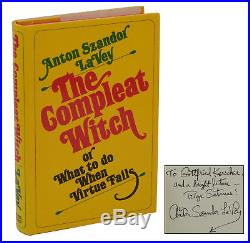 The Compleat Witch SIGNED by ANTON SZANDOR LAVEY First Edition 1971