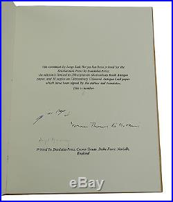 The Congress JORGE LUIS BORGES Signed Limited First Edition 1/50 1974