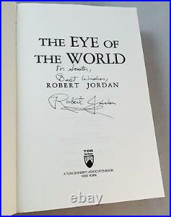 The Eye Of The World-Robert Jordan-SIGNED-First/1st SC Edition/2nd Printing-RARE