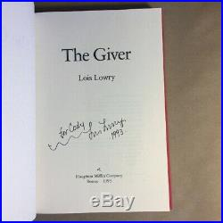 The Giver by Lois Lowry (Signed, First Edition/First Printing, 1993, Hardcover)