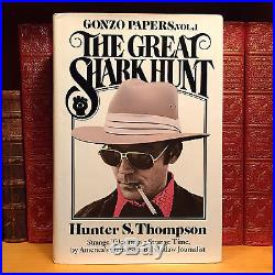 The Great Shark Hunt, Hunter S. Thompson. SIGNED First Edition, 1st Printing