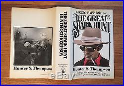 The Great Shark Hunt, Hunter S. Thompson. Signed & Inscribed First Edition, 1st