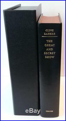 The Great and Secret Show by Clive Barker (First Edition) LTD Signed Copy #82