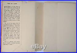 The Hollow by Agatha Christie Signed First Edition 1946