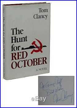 The Hunt for Red October SIGNED by TOM CLANCY First Edition 1st Printing 1984