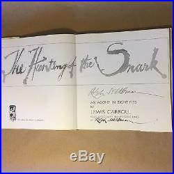 The Hunting of the Snark by Lewis Carroll, Ralph Steadman (Signed First Edition)
