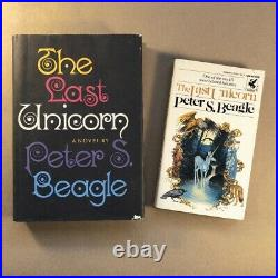 The Last Unicorn by Peter S Beagle (First Edition, 1968 Hardcover, Signed PB)