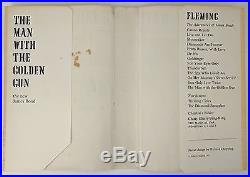 The Man With the Golden Gun Ian Fleming First Edition Signed Chris Lee