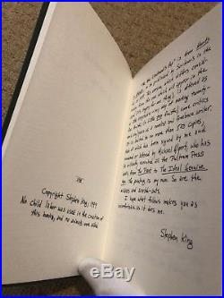 The New Lieutenants Rap Un-Signed Limited First Edition Stephen King Ultra Rare