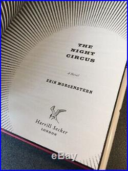 The Night Circus by Erin Morgenstern, Signed Dated 1st First UK Edition, 2011