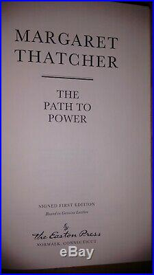 The Path To Power Signed 1st Edition Number 2699 of 3000 The Easton Press
