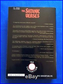 The Satanic Verses First American Paperback Edition Signed By Salman Rushdie