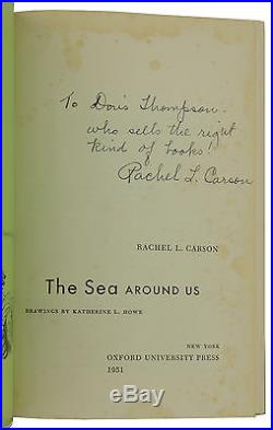 The Sea Around Us SIGNED by RACHEL L. CARSON First Edition 1st 1951