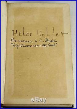 The Story of My Life by HELEN KELLER SIGNED First UK Edition 1904 1st