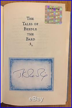 The Tales of Beedle the Bard by JK Rowling Signed First Edition