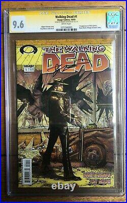 The Walking Dead #1 1st App Rick Grimes Signed Kirkman SS CGC 9.6 1271946005