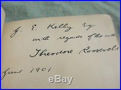 Theodore Roosevelt Signed First Edition Rough Riders Book