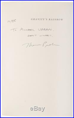 Thomas Pynchon Signed Book Rare signed first edition of Gravitys Rainbow