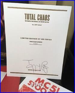 Total Chaos Stooges Iggy Pop Signed 1st Edition Book #32/400 Third Man Vault